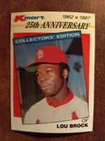 1987 Topps Kmart Stars Of The Decades 13 Lou Brock Bas
