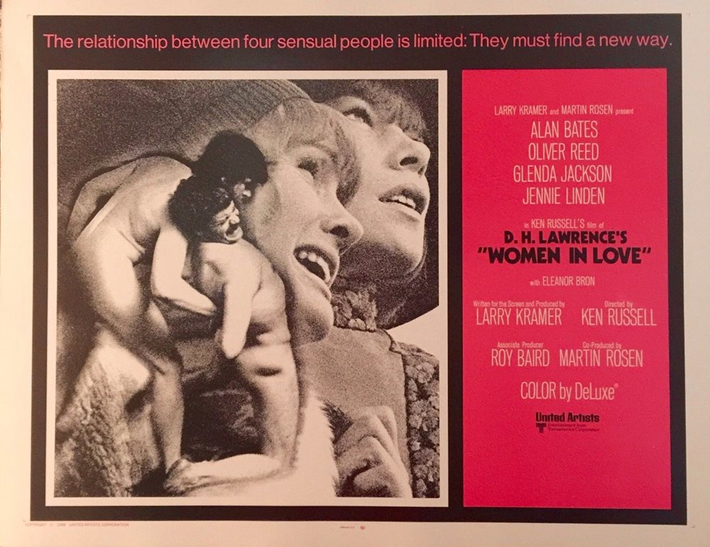 WOMEN IN LOVE ORIGINAL 1969 HALF-SHEET MOVIE POSTER 22""