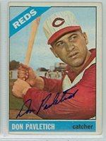 Don Pavletich AUTOGRAPH 1966 Topps #196 Cincinnati Reds