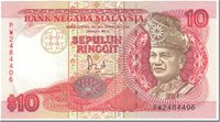 10 Ringgit Malaysia Banknote, Undated (1989), Km:29