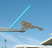 "NICE 2/"" Custom FLOAT Green Handheld Lightsaber 1983 Luke Jedi Vintage Star Wars"
