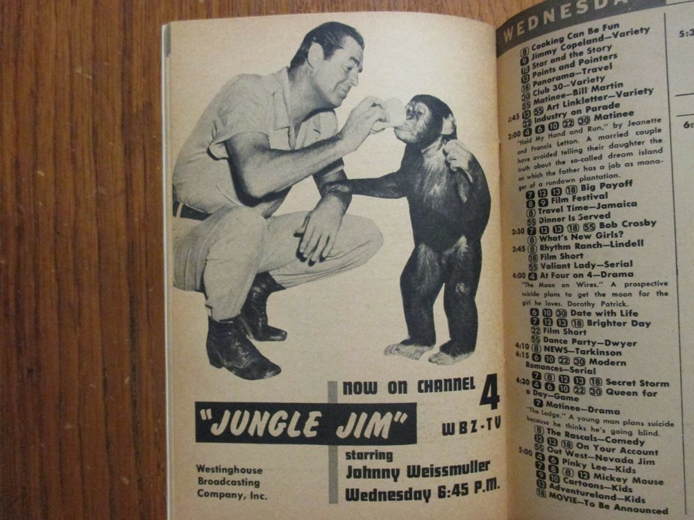 1956 TV Guide(JUNGLE JIM/JOHNNY WEISSMULLER/DONALD DUCK/JANIS PAIGE/TONY  MARTIN)