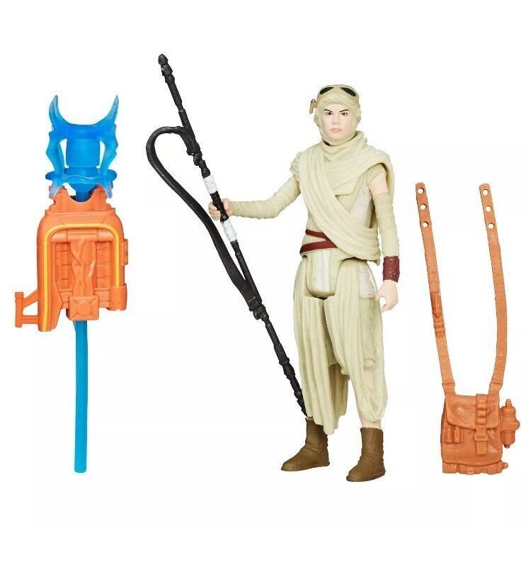 Hasbro Star Wars Force Awakens REY JAKKU Rogue One Figure Disney Wave 2 In Stock