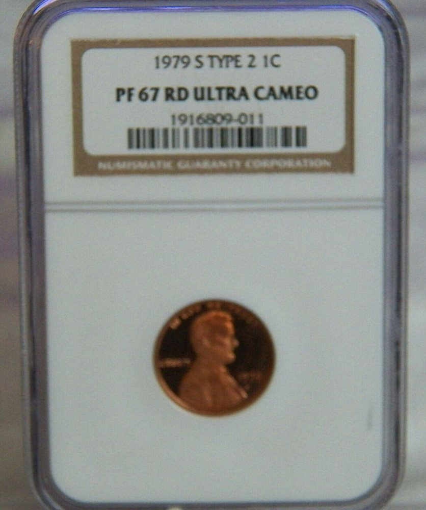 1979 S TYPE 2 GEM PROOF LINCOLN PENNY NGC PF69 RD ULTRA CAMEO RED 1c CENT TOPPOP
