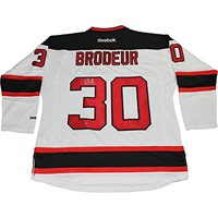 Martin Brodeur New Jersey Devils Autographed White Reeb