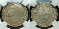 NGC--VF 35**1839 German WURTTEMBERG Silver 1/2 Gulden**nice Date