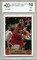 2003-04 Topps Collection LeBron James Rookie Card Graded BCCG 10
