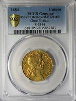England 1684 Charles II Gold Guinea PCGS F Det. S.3344 km#440.1