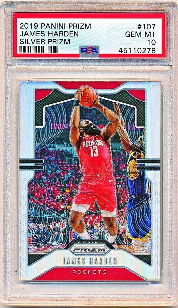 2019-20 Panini Prizm Fireworks #5 James Harden Houston Rockets Basketball Card