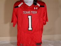 4b49b9d15 New Under Armour Texas Tech Red Raiders Sideline Authentic Home Football  Jersey