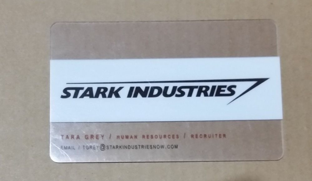 Stark industries business card avengers promo san diego colourmoves
