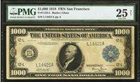 1918 $1000 Fr.1133 L,Federal Reserve Note, San Fran VF 25 -eBay's best 1133 deal