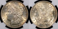 "1921 NGC MS{62} Error Coins THE OBVERSE & THE REVERSE OF THIS MORGAN DOLLAR ERROR ARE STRUCK THRU,MOST NOTICEABLY OBLITERATING THE ""O"" OF DOLLAR."