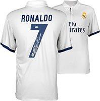857d711db Cristiano Ronaldo Signed Real Madrid 2016-17 Soccer Jer
