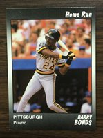 1991 Star Company BARRY BONDS Limited Edition HOME RUN Promo Card 300 Printed