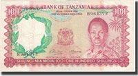 100 Shillings Undated Tanzania Banknote, Km:4a