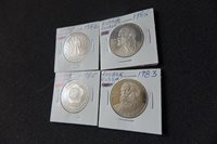 Lot of 4 Old Russia USSR Soviet Coins 2xLENIN Roubles and 2xRubles Coins Nr 6194