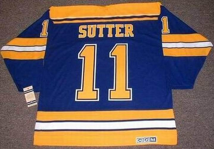 purchase cheap 77aad 51a4a BRIAN SUTTER St. Louis Blues 1980 CCM Vintage Throwback NHL Hockey Jersey