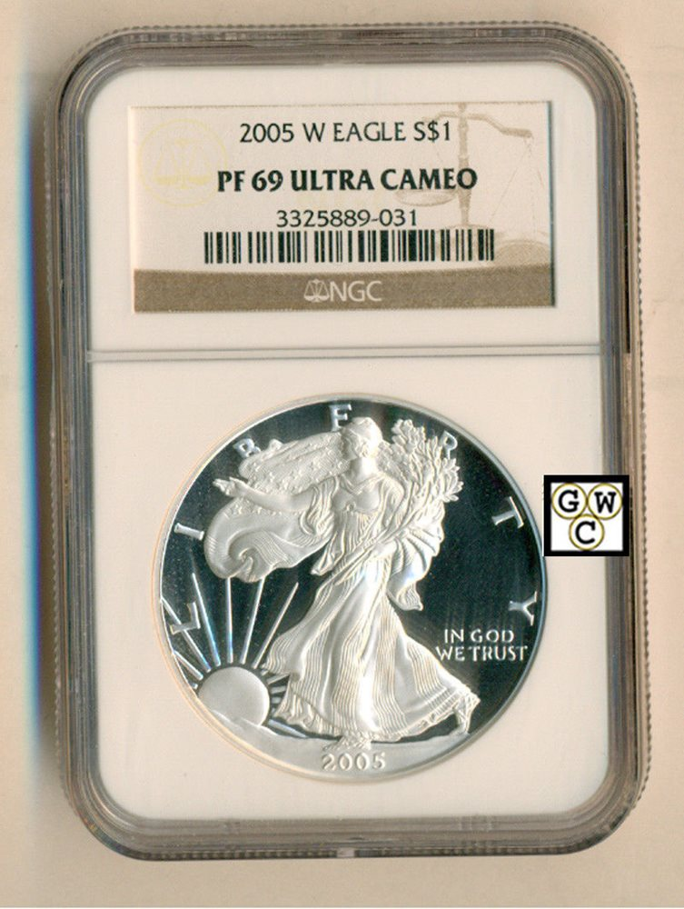 Flag Label 2017 W 1oz Silver Eagle Proof NGC PF69 Ultra Cameo