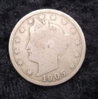 1905 Liberty Head Nickel, G-4