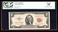 DBR 1953-B $2 Legal Fr. 1511 PCGS 30 Serial A65521731A