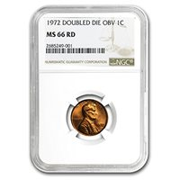 1972 LINCOLN CENT NGC MS66 RED