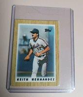 1987 Topps Keith Hernandez New York Mets 24 Baseball C