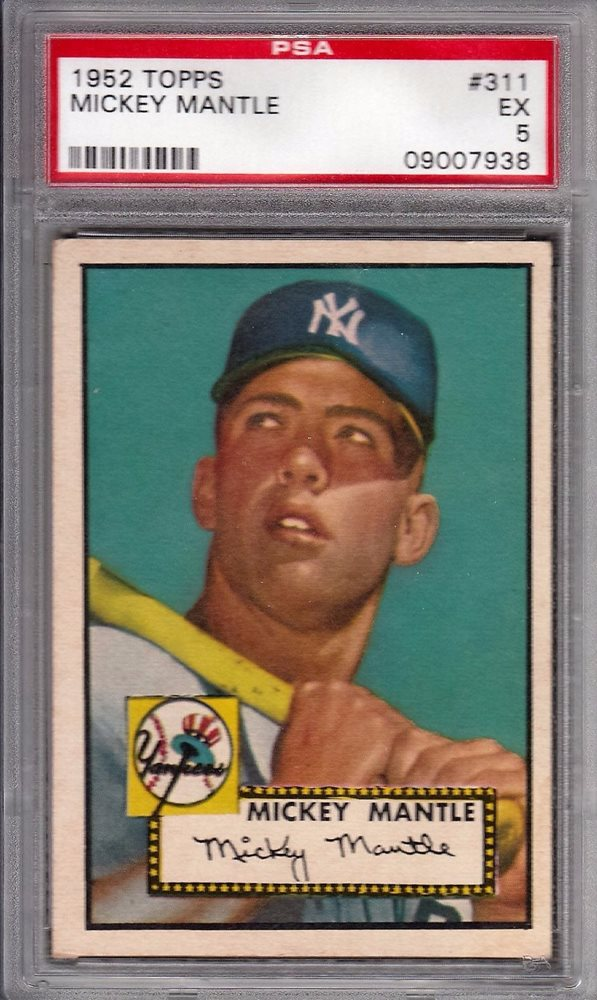 1952 Topps Mickey Mantle 311 Psa 5 Rookie Card