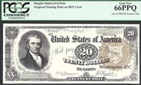 $20 1890 Treasury Note FRONT MARSHALL INTAGLIO PCGS Superb Gem New 66 PPQ