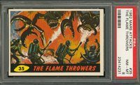 """1962 Mars Attack #35 THE FLAME THROWERS PSA 8 NM-MT """"""""1962 Mars Attack #35 THE FLAME THROWERS PSA 8 NM-MT """""""""""