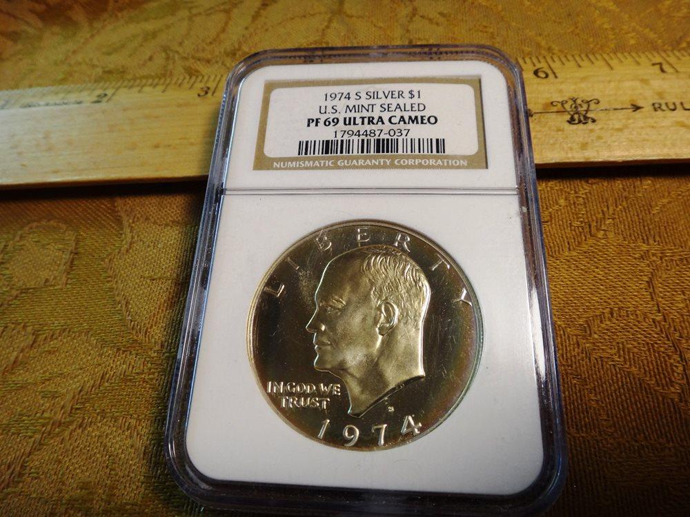 1974-S Eisenhower Dollar Ike Gem Proof Cameo