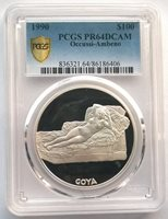 Occussi Ambeno(Timor) 1990 Goya 100 Dollars PCGS Silver Coin,Proof