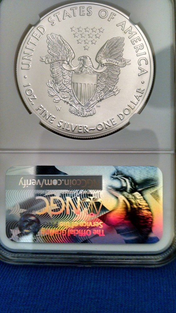 2017 W Burnished Silver Eagle NGC MS69 Liberty Coin Act Label