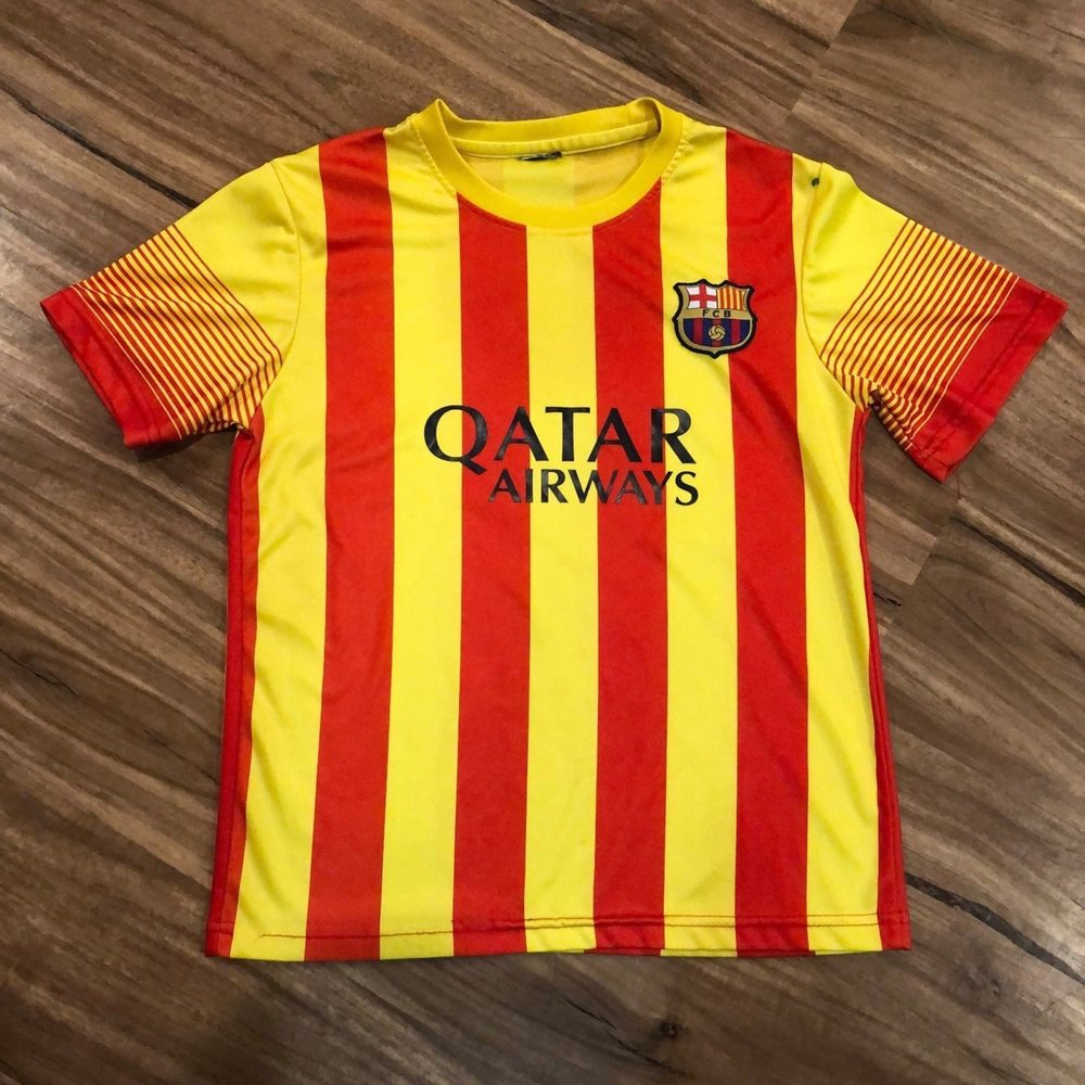 Fcb Lionel Messi Striped 10 Soccer Jersey Youth Barcel