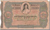 20 Pesos = 2 Doblones Uruguay Banknote, 1871-03-01, Km:s292