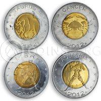 Somaliland, Set of 12 coins, Zodiac Signs, 2012