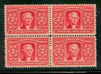 Scott#:324 ,XF OG NH/LH Block of 4. Extremely fresh. LH on top right stamp only, with the other 3 stamps NH. A nice early commemorative block