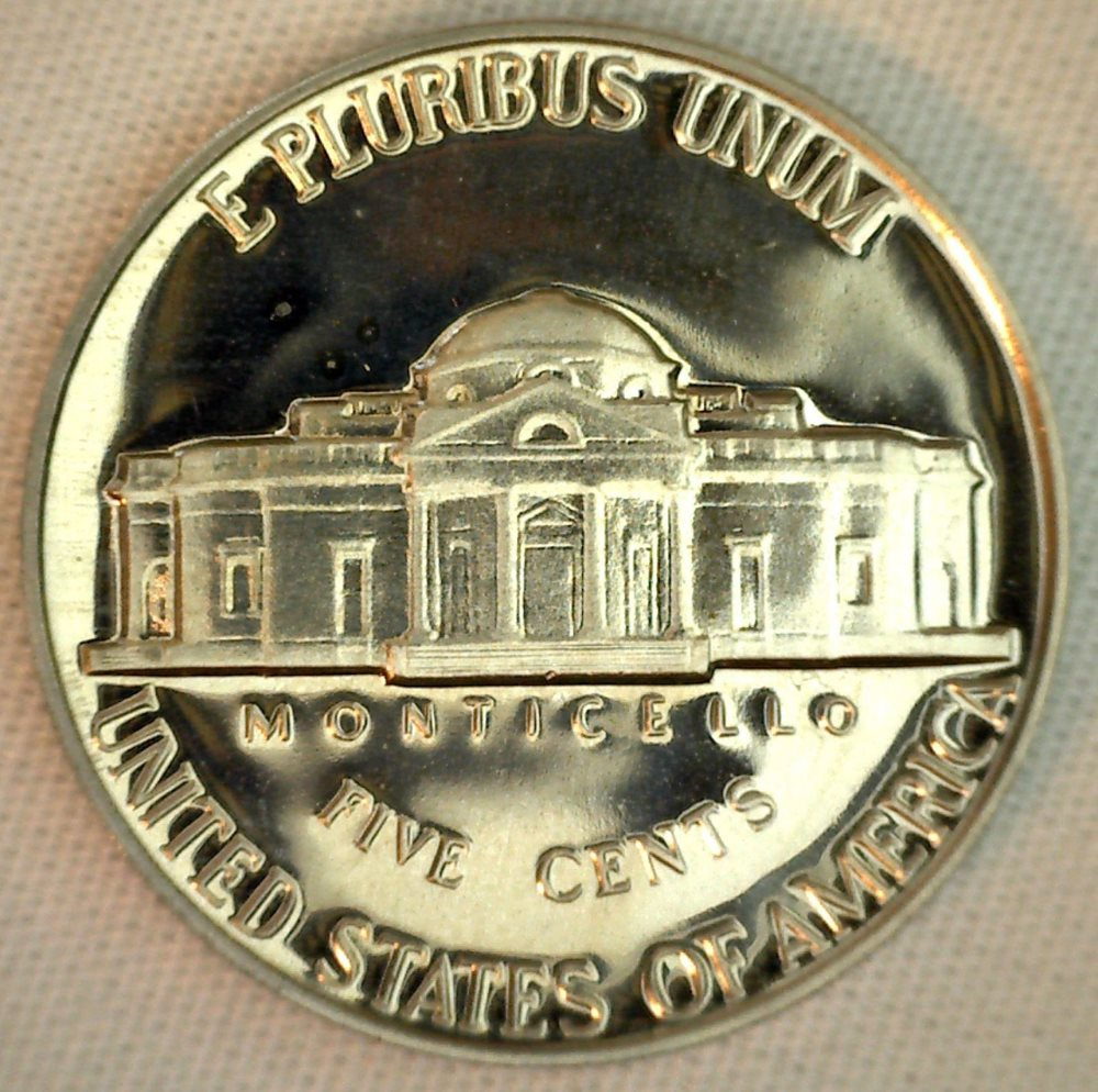 1964 Proof Jefferson Nickel 5c Five Cent Coin Made in USA 5 Cents