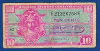 USA Military Payment Certificate, 10 TEN Cents Note Series 521,Rarre banknotes !