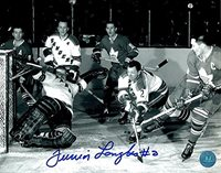 Albert Langlois Autographed New York Rangers 8x10 Photo - Authentic Signed Autograph