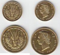 Probe 5 and 25 Francs Französische Kolonien Westafrika Probe 2 and 25 Francs 1956 (2 Stück)
