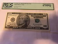 1999 Star $10 NY Federal Reserve Note PCGS 67 PPQ Superb Gem New LOW SERIAL #
