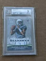 2012 Bowman RUSSELL WILSON Variation SILVER /99 BGS 9 mint RARE .5 from GEM