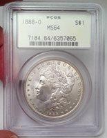 1888-O Morgan Silver Dollar - PCGS MS 64 - Frosty & Lustrous Better Date Gem 64!
