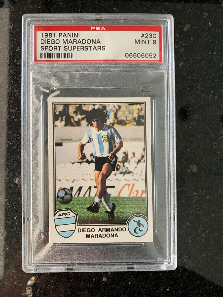 Auction Prices Realized Multi Sport Cards 1981 Panini Sport Superstars Diego Maradona