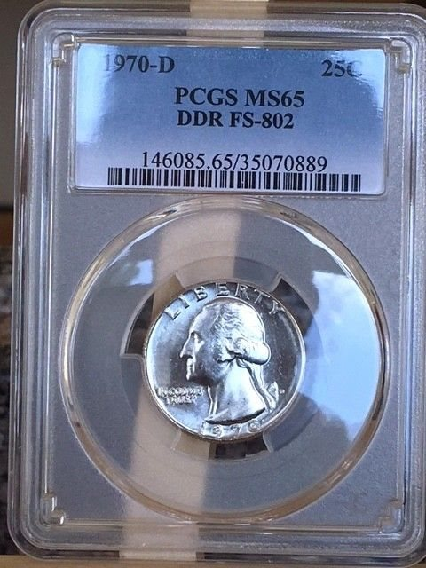 1970-D Double Die Reverse Washington PCGS MS 65 DDO FS-802