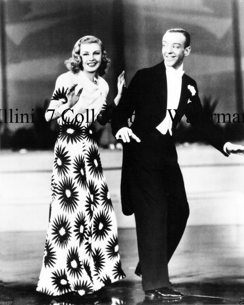 FRED ASTAIRE GINGER ROGERS UNSIGNED 8X10 GLOSSY PHOTO