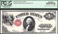 $1 1917 LEGAL TENDER WASHINGTON FACE INTAGLIO PCGS Gem New 65 PPQ