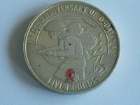 Silver coin 5 pounds 2004 60th anniversary of d-day(D85)