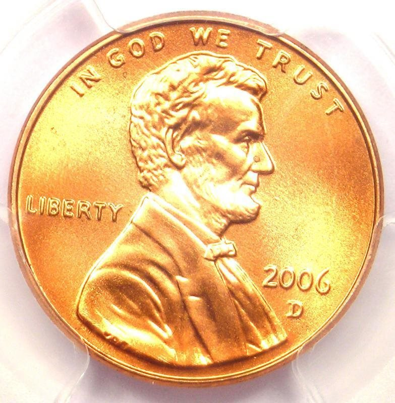 2006-D Lincoln Memorial Cent 1C Penny - PCGS MS68 RD - Top Pop